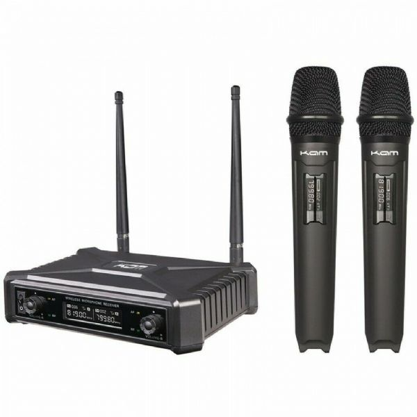 KAM RADIOMIC FIXED FREQUENCY UHF 2x Microphones - KWM11PRO